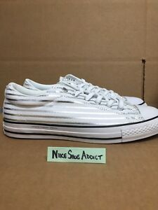 Converse All Star Chuck Taylor CTS OX Low Fragment White Silver ... 971878ce66