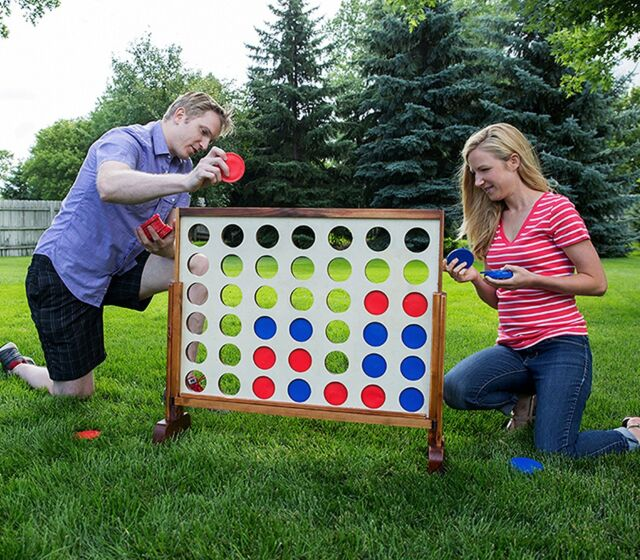 Giant Connect Four Yard Party Oversized Large Backyard Fun Outdoor Pack