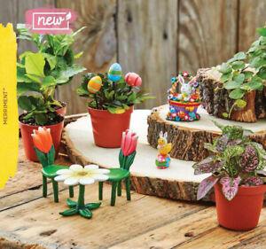 Studio-M-Merriment-Fairy-Garden-Easter-Bunny-Chick-on-Egg-Tulip-Table