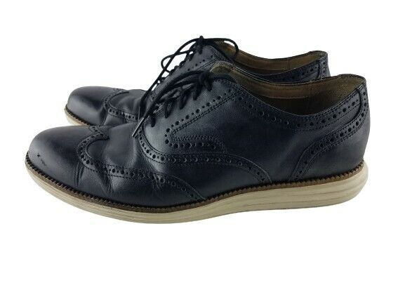 Cole Haan Original Grand Wing Tip II Oxford Shoes Mens Size 11 M Black C21130