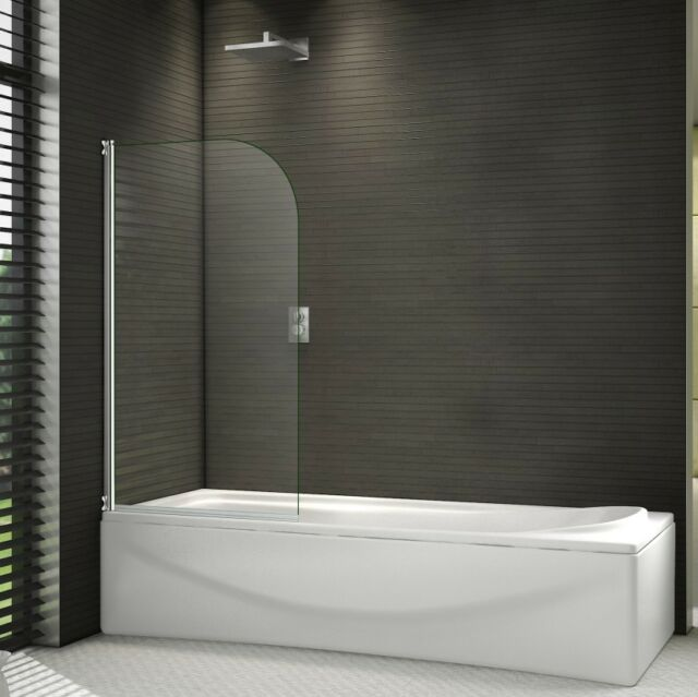 1400Mm Shower Bath pivot screen over bath shower door panel 1400mm glass & seal | ebay