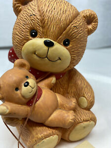 VINTAGE 1979 TEDDY BEAR  CERAMIC BANK OLD COIN BANK OLD Lucy & Me LUCY RIGG