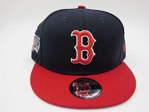 Boston-Red-Sox-Retro-Championship-Patch-New-Era-9FIFTY-MLB-Snapback-Hat-Cap-M-L
