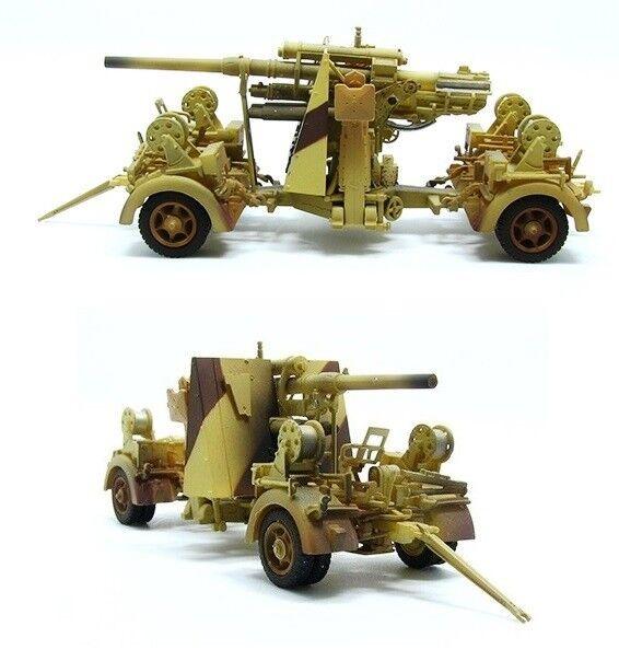 PMAP0311 1 72 WORLD WAR 2 GERMAN ARMY AFRIKA KORPS 88MM FLAK 36 & TRAILER 1942