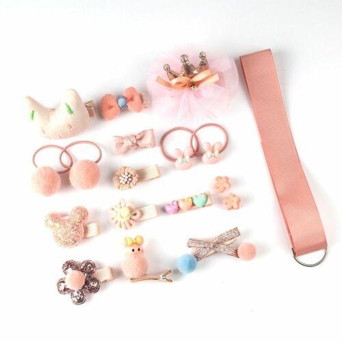 Details about  /18 Pcs Hair Clip Set Cute Hair Accessories Girl Cartoon Hair Clip Headwear Bow