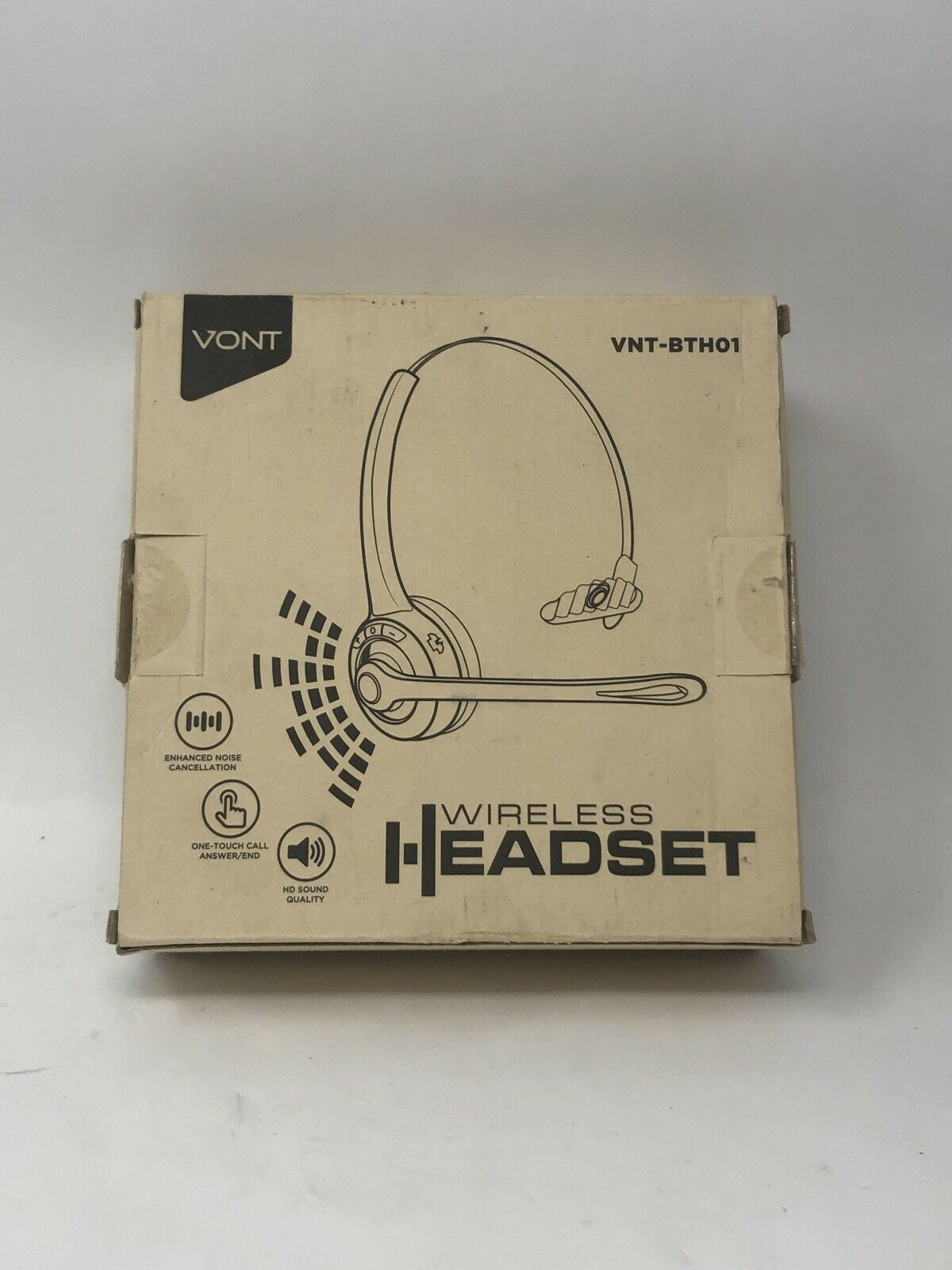 New Black Vont Bluetooth Headset Cell Phone Headset Microphone Wireless Trucker For Sale Online