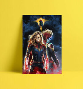 HD-Print-Oil-Painting-Home-Decor-Wall-Art-On-Canvas-Captain-Marvel-Unframed