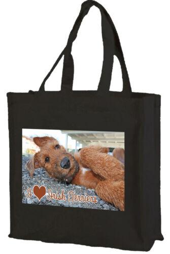 Choice of Colours. Irish Terrier I Love Irish Terriers Cotton Shopping Bag