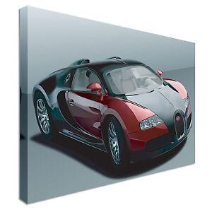 Bugatti Veyron Canvas Wall Art Print Large + toute taille  </span>