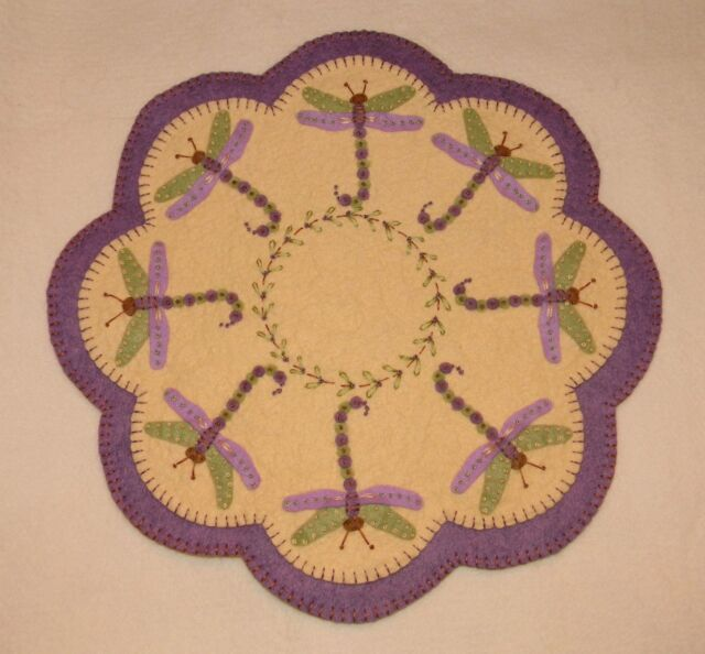 ~*Dragonflies*~Penny Rug/Candle Mat PATTERN Applique
