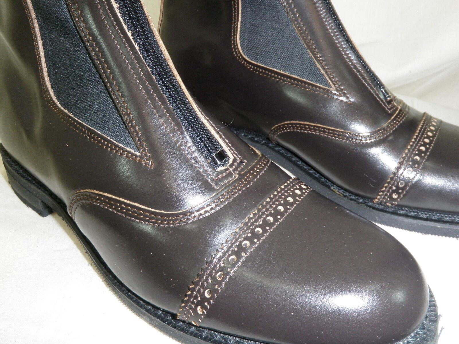Reed Hill Dark Marronee Leather Zipper Jod stivali Ladies Dimensione 712 C  Made in USA
