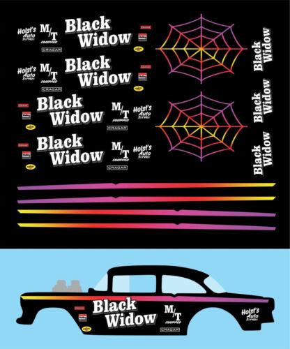Hot wheels 1//64 Decals  /'55 Chevy Gasser BLACK WIDOW 097