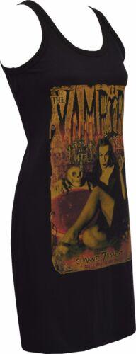 WOMENS GOTHIC DRESS THE VAMPIRA SHOW GOTH HORROR VAMPIRE VINTAGE PIN-UP S-XL