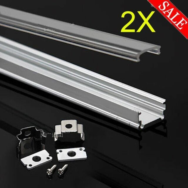 best authentic fe1f6 811ee 2x1M Aluminium Channel Alloy Profile Bar Diffuser Track for LED Strip  Lights Cab