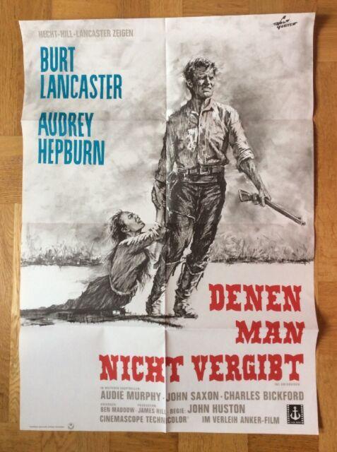 Denen man nicht vergibt (Kinoplakat '68) - Audrey Hepburn / Burt Lancaster