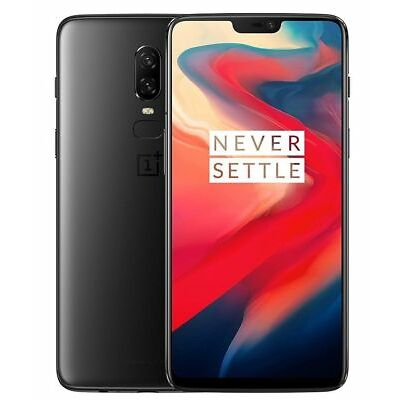 "OnePlus 6 128GB Midnight Black A6000 (FACTORY UNLOCKED) 6.28"" 16MP 8GB RAM"