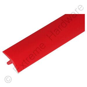"""9 Ft (environ 2.74 M) 3/4"""" 18 Mm Rouge Vif T-molding Plastique Bord Bordure Pour Bornes D'arcade Cabinet-afficher Le Titre D'origine"""
