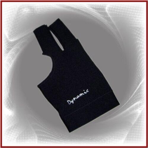 Billard 3 Finger Handschuh Schwarz mit Klettverschluss