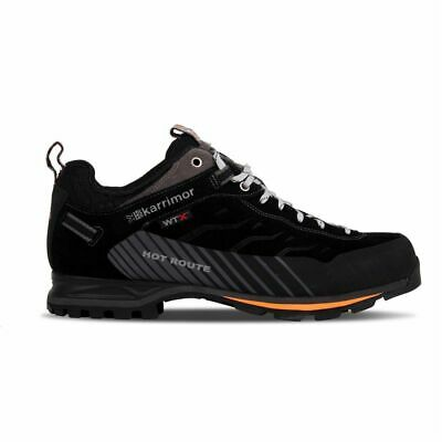 Karrimor Mens Hot Route WTX Walking Shoes Waterproof Lace Up Breathable Leather