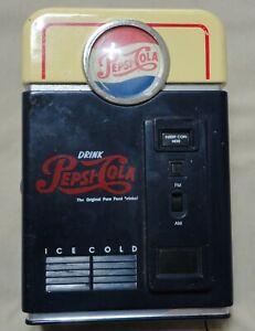 Vintage-PEPSI-COLA-AM-FM-Radio-Battery-Operated-Dispensing-Machine-Replica