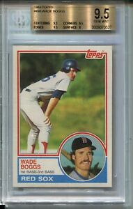 1983 Topps Baseball #498 Wade Boggs Rookie Card RC Graded BGS Gem Mint 9.5 '83