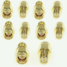 Pack 10 pcs SMA male jack to RP-SMA female plug straight RF Connector Adapter