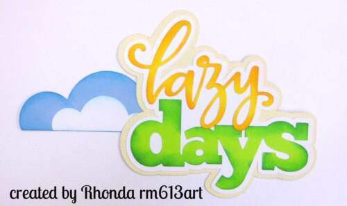Summer lazy day  Title paper piecing premade scrapbook page Rhonda rm613art