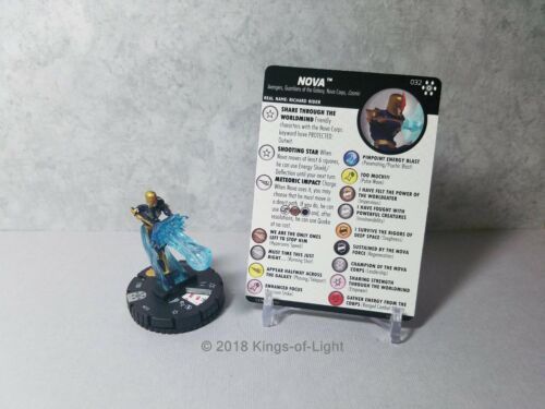 032 Marvel Avengers Infinity HeroClix Miniature Rare Nova