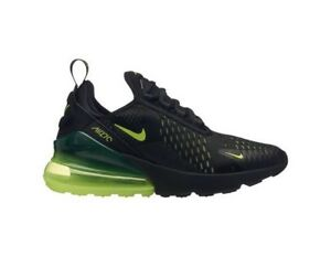 separation shoes 84da2 e673b Details about Nike Air Max 270 Black Volt Yellow Oil Grey Kids Boys Girls  GS Size 943345 011