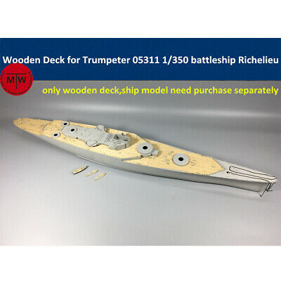 Hunter 1//350 W35025 Wood deck French Richelieu for Trumpeter
