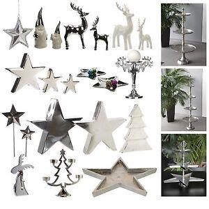 Etagere Weihnachtsdeko.Cepewa Weihnachtsdeko Silber Dekoration Etagere Stern Rentier