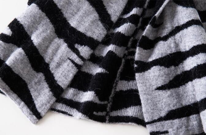 Womens Womens Womens Ladies New Fashion Zebra Alpaca Wool Sweaters Loose Cardigan Outwear 8795 1be5df