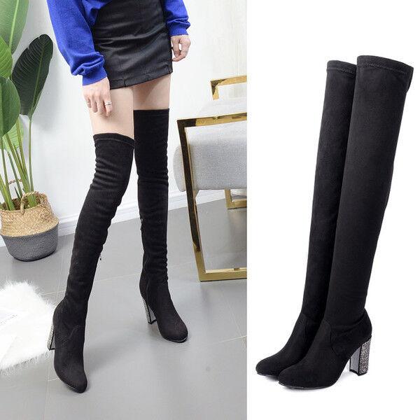 botas muslo rodilla mujer en negro plata 10 cm elegantes como piel 9663