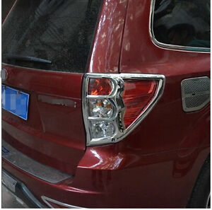 Chrome Rear Tail Light Lamp Cover Trim For Subaru Forester