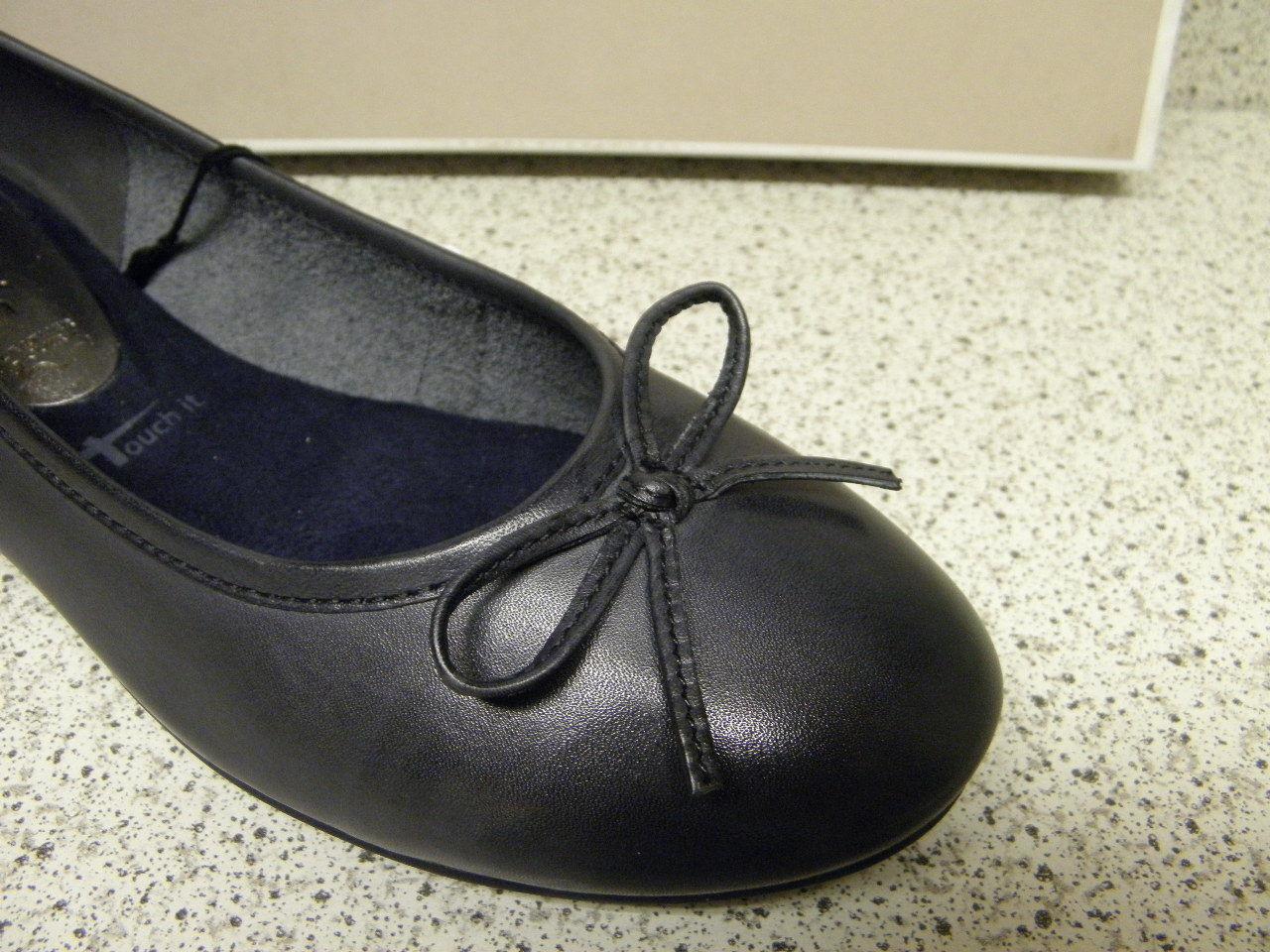 Tamaris (ta41) ® réduit   Ballerine bleu cuir (ta41) Tamaris ad5e1a