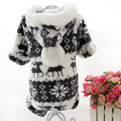 Fashion Warm Hoodie Jumpsuit Coat Clothes Costume For Pet Dog Puppy 5 Sizes New