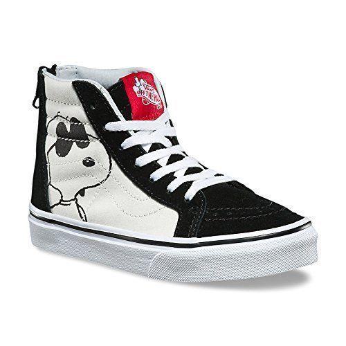 f05ee0d51339 Vans Sk8 Hi Zip Peanuts Joe Cool Black Kids 10.5 Skate Shoes New Sneakers