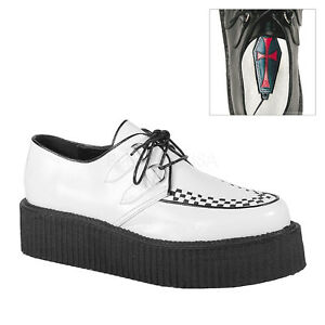White Platform Creepers Gothic Shoes