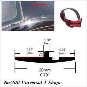 Frente-del-coche-Parabrisas-Trasero-Universal-30ft-Tira-Goma-Sello-Trim-para-todo-tipo-de-clima