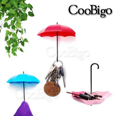 Sticky Umbrella shape Wall Hook Creative Key Hanger Rack Home Decorative Holder