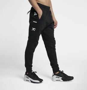 Details about Nike Air Fleece Men's Jogger Pant Black and white stylish
