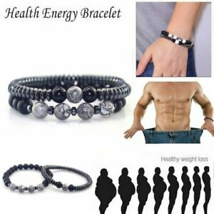 2020Magnetic Healing Therapy Bracelet Arthritis Hematite Weight Loss Pain Relief