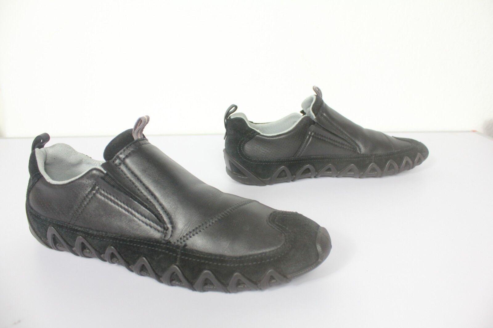 ECCO Elegante Slipper Sneaker Echtleder Dunkelblau Eu:41