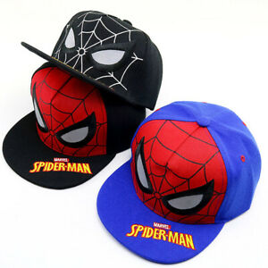 4429c4778abac7 Spider-Man Baseball Cap Kids Boys Marvel Fans Hiphop Snapback Hat ...