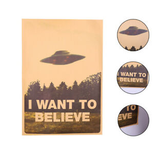 Vintage-Classic-X-FILES-034-I-Want-To-Believe-034-Poster-Home-Decor-Wall-Esdtu-L7F1