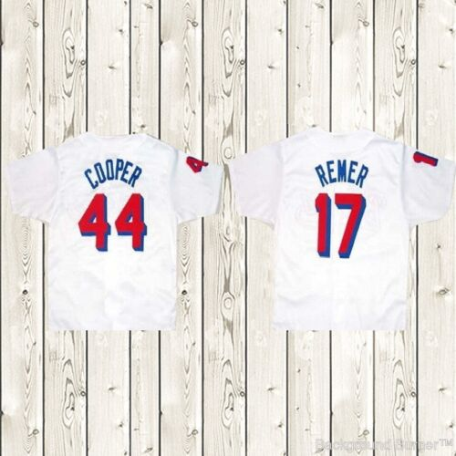BASEketball Beers Movie 1998 Baseball Jersey #44 Cooper #17 Remer Stitched White