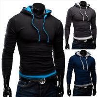 MERISH Pulli Slim Fit Kapuzen Pullover Herren Hemd Jacke T-Shirt Hoodie 06