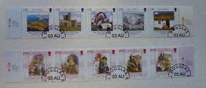 ISLE-OF-MAN-2004-2-STRIPS-OF-5-HERITAGE-PM-DOUGLAS-STAMPS