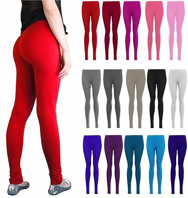 Ladies Legging Ladies Plain Stretchy Viscose Leggings Plus Size 8-14 Ein BrüLlender Handel