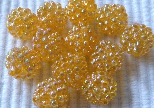 Baie perle 10 mm balle environ plastique Choix de Couleur 1488